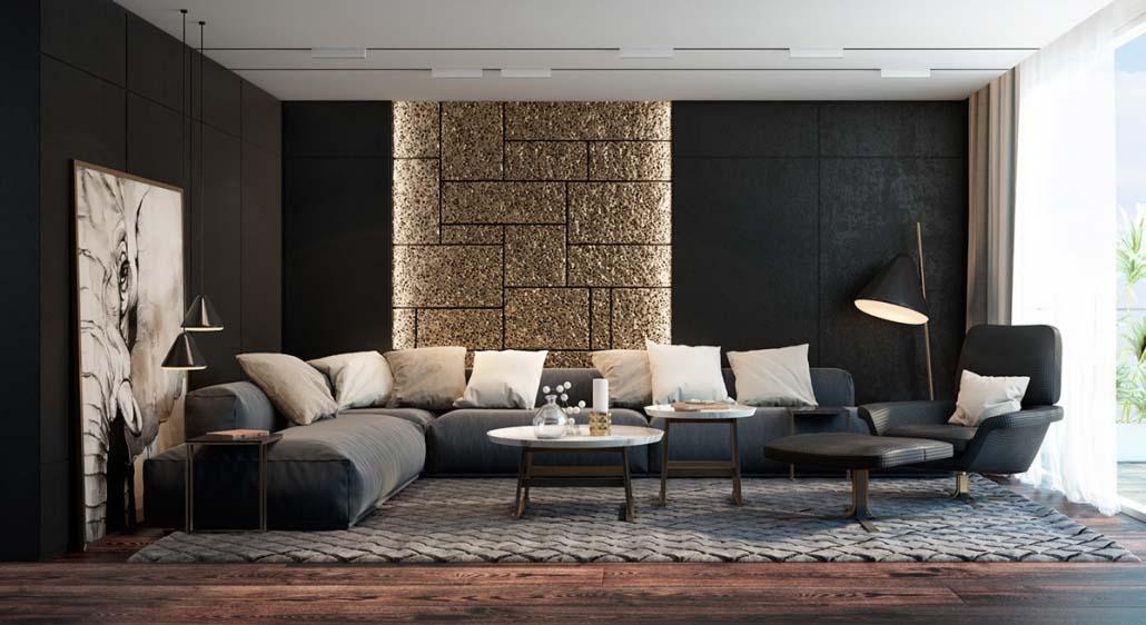 Mẫu decor living room đẹp mang kiến trúc cổ điển của hoàng gia