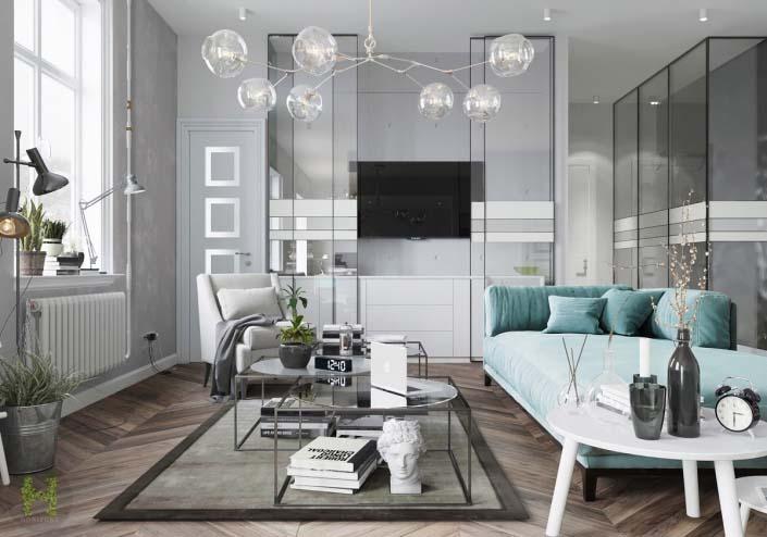 Thiết kế living room nhà ống 5m
