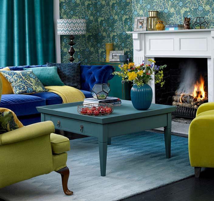 Nội thất phòng khách mang phong cách phong cách tân cổ điển