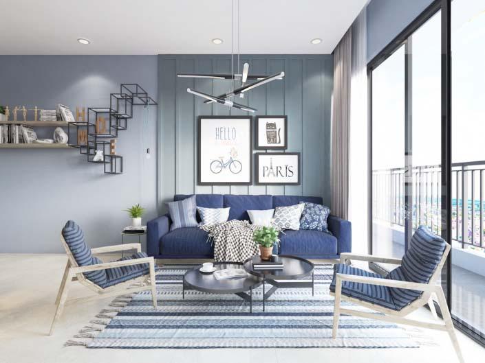 mẫu thiết kế diện tích phòng khách đẹp