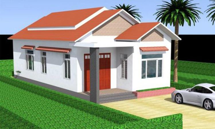 Thiết kế hà cấp 4 3 phòng ngủ 1 phòng thờ