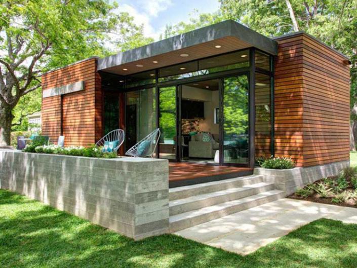 Thiết kế kiến trúc nhà 1 tầng chữ L sân vườn đẹp