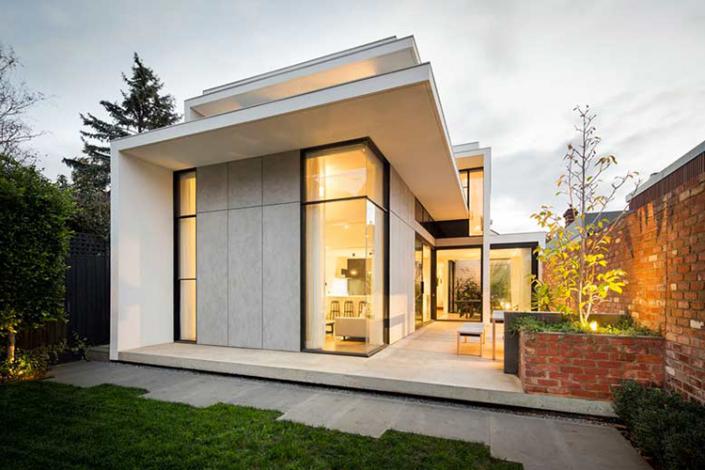 Mẫu thiết kế nhà 1 tầng chữ L 2 phòng nghỉ