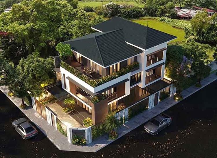 Biệt thự nhà vườn kiến trúc Á Đông