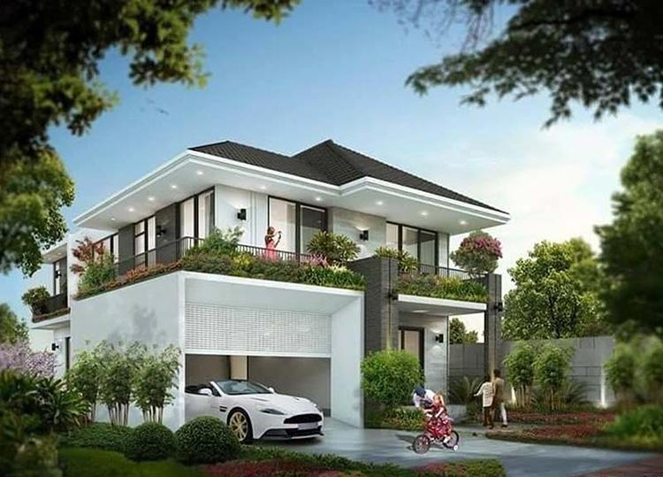 Ngôi biệt thự hai tầng đơn giản