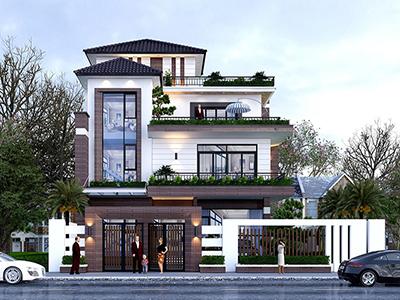 thiết kế biệt thự mái Nhật