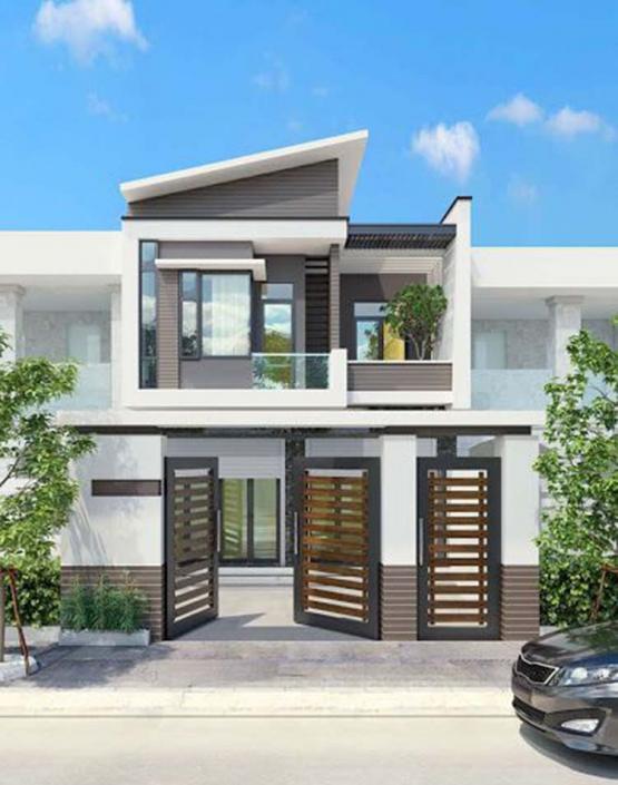Thiết kế nhà 2 mặt tiền kết hợp buôn bán