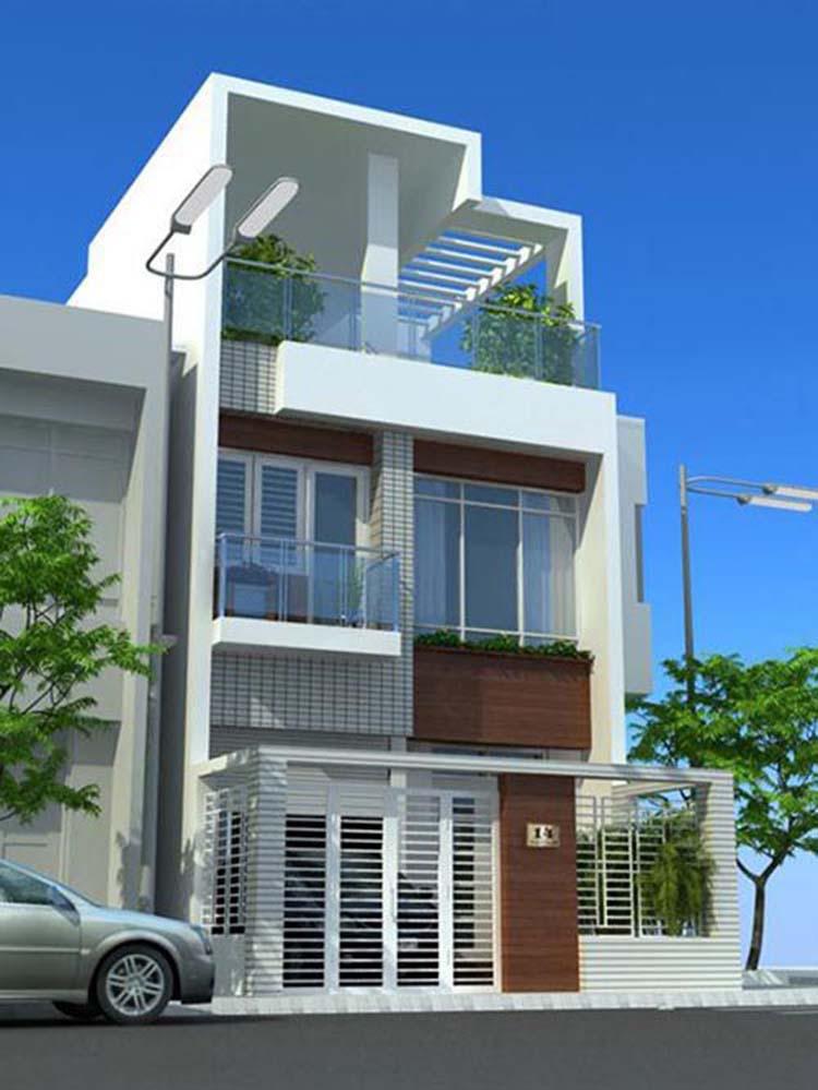 Thiết kế nhà 2 tầng tân cổ điển 5x15m