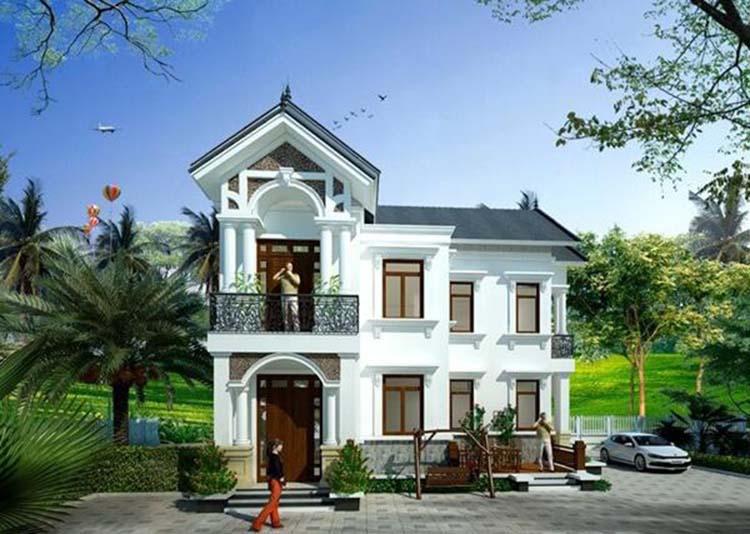 Nhà 2 tầng chữ l mặt tiền 8m
