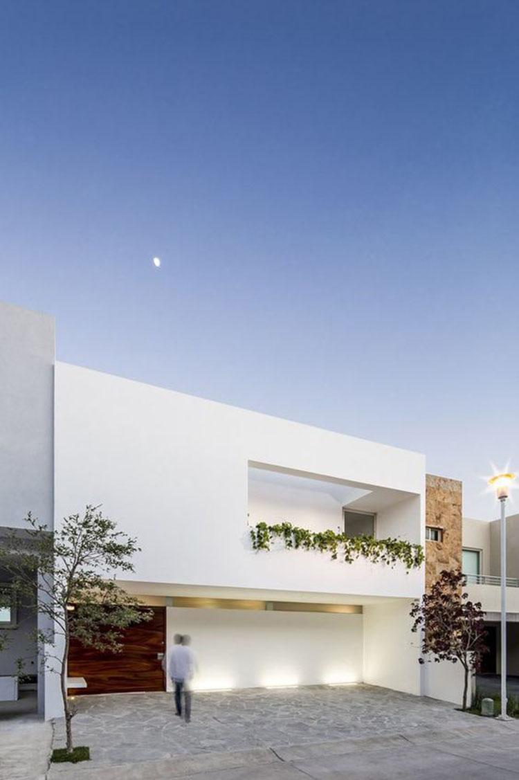 Mẫu nhà 2 tầng mái bằng hiện đại 9x15m2