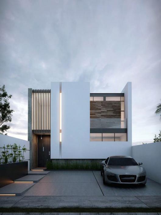 Mẫu nhà 2 tầng mặt tiền 10m