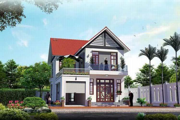 Mẫu nhà hai tầng mái Thái đẹp