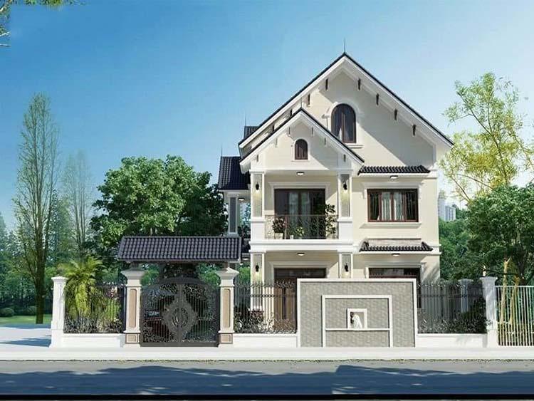 Nhà đẹp 2 tầng mái Thái 100m2 hiện đại
