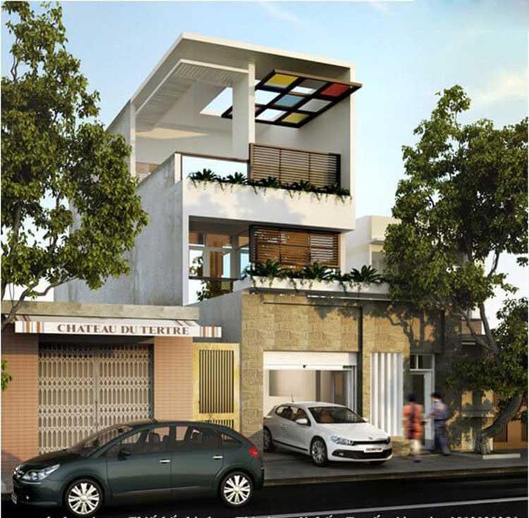Mẫu nhà phố 2 tầng 5x16m