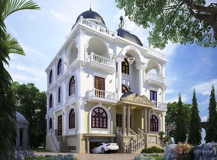 Mẫu thiết kế Biệt thự Pháp cổ điển