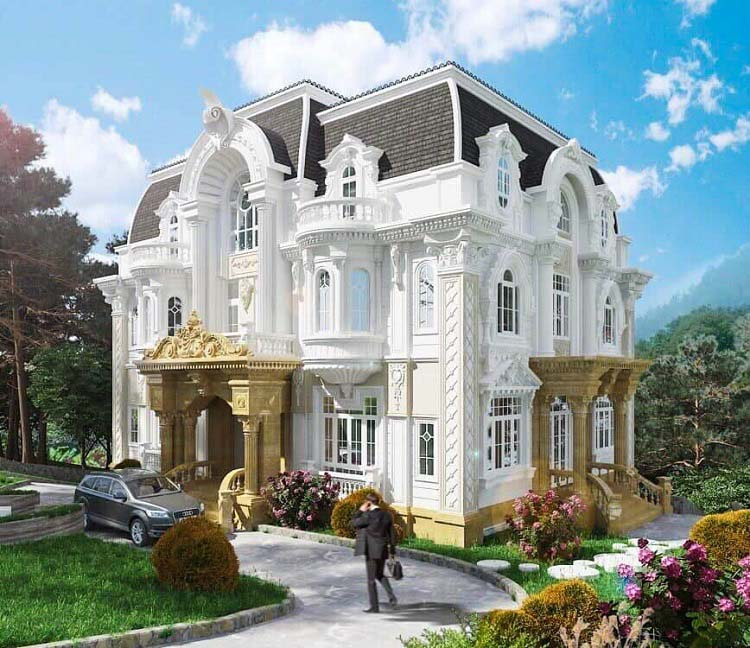 Biệt thự Pháp ba tầng 2 mặt tiền