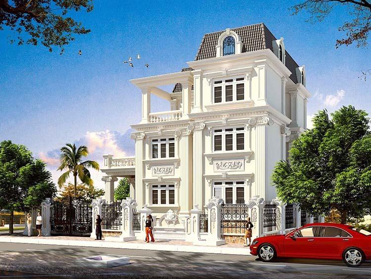 Ngôi biệt thự ba tầng kiểu Pháp 10x15m