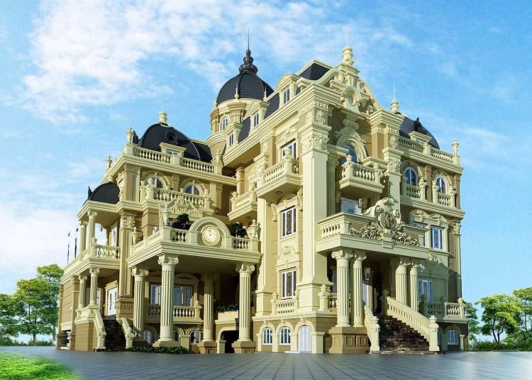 Tiền thiết kế thi công biệt thự 3 tầng kiểu Pháp