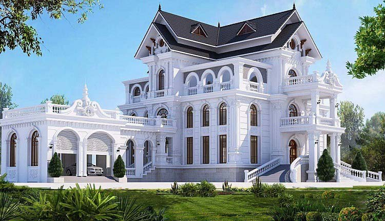 Những mẫu thiết kế biệt thự Pháp 3 tầng đẹp