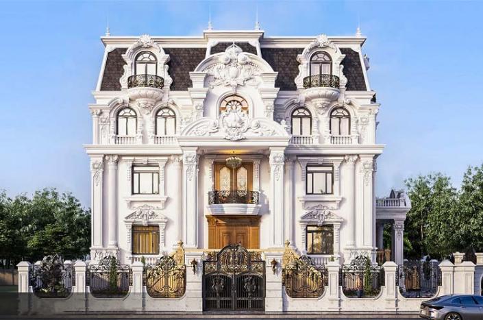 Mẫu biệt thự kiểu Pháp 90m2 x 3 tầng