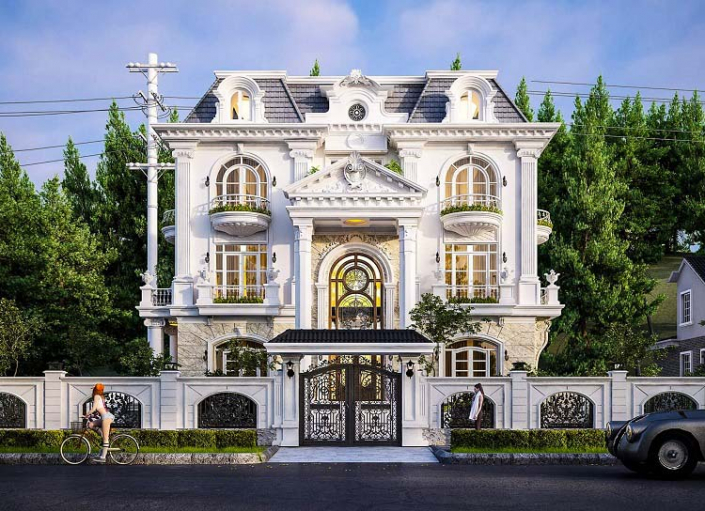 Đặc trưng của biệt thự kiểu Pháp