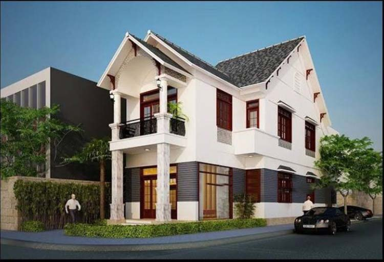 Căn nhà đẹp 2 tầng 2 mặt tiền