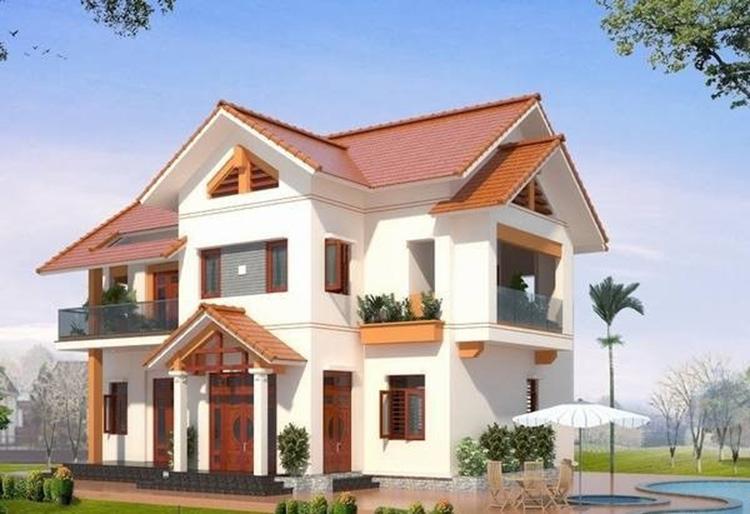 Nhà 3 gian tầng mái Thái